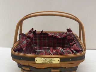 Christmas 1993 longaberger Bayberry lined Basket