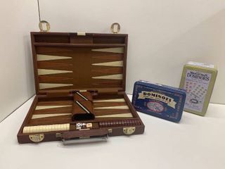 lot of 3   Backgammon and Dominoes