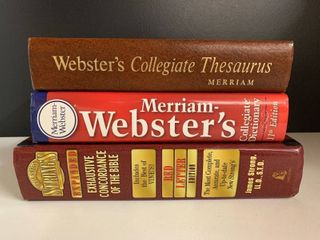 lot of 3 Reference Books   Concordance  Dictionary  Thesaurus