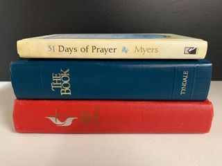 lot of 3 Books   31 Days of Prayer  Hymn Book  Tyndale Bible