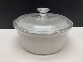 2 1 2 Quart Corning Ware Round Casserole Dish with lid