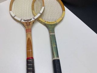 lot of 2 Vintage Tennis Rackets   Dunlop Maxply Fort and Wright   Ditson Comet