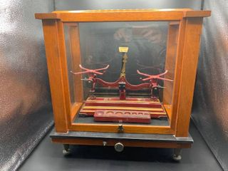 Vintage Shawnee Mission North Biology lab Scale  Includes Display Case