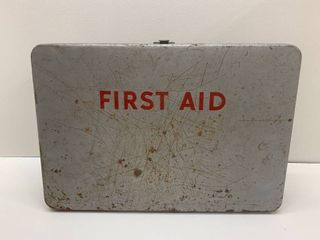 Vintage Metal First Aid Kit and Contents