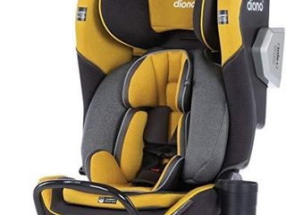 Diono Radian 3QXT 4 in 1 Rear and Forward Facing Convertible Car Seat  Safe Plus Engineering 4 Stage Infant Protection  10 Years 1 Car Seat  Slim Design   Fits 3 Across  Yellow Mineral