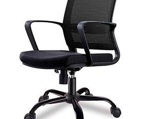 Smugdesk Mid Back Ergonomic Office lumbar Support Mesh Computer Desk Task Chair with Armrests