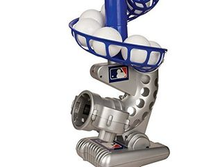 Franklin Sports MlB Electronic Baseball Pitching Machine a Height Adjustable a Ball Pitches Every 7 Seconds a Includes 6 Plastic Baseballs  Silver Blue  6696S3
