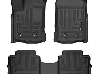 Husky liners 94101 Fits 2019 Ford Ranger SuperCrew Weatherbeater Front   2nd Seat Floor Mats