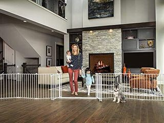 Regalo 192 Inch Double Door Super Wide Adjustable Baby Gate and Play Yard  4 In 1  Bonus Kit  Includes 4 Pack of Wall Mounts