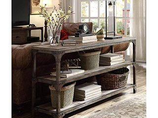 ACME Furniture 72685 Gorden 60  Server  Weathered Oak Antique Silver