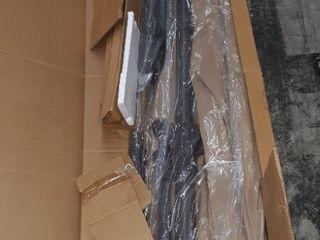le Papillon 10 ft Offset Hanging Patio Umbrella Aluminum Outdoor Cantilever Umbrella Crank lift  Beige