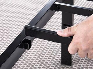 Best Price Mattress 14 Inch Metal Platform Beds w  Heavy Duty Steel Slat Mattress Foundation  No Box Spring Needed  Black