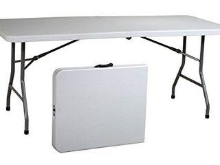 Office Star Resin Multipurpose Rectangle Table  6 Feet  Center Folding