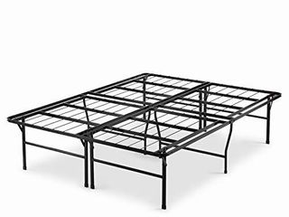 Zinus Casey 18 Inch SmartBase Mattress Foundation   4  High Extra for under bed storage   No box spring required   Queen