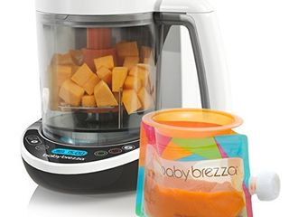 Baby Brezza Small Baby Food Maker Set a Cooker and Blender in One to Steam and Puree Baby Food for Pouches   Make Organic Food for Infants and Toddlers   Includes 3 Pouches and 3 Funnels