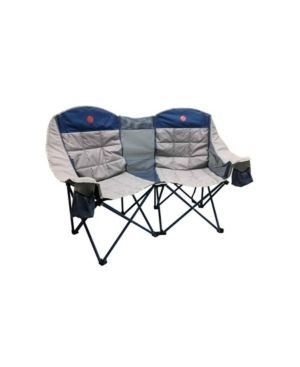 OmniCore Designs Home Away Moon Phase Double loveseat Heavy Duty Oversized Quad Folding Double Camp Chair