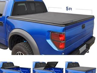 Tyger Auto T3 Tri Fold Truck Bed Tonneau Cover TG BC3T1630 Works with 2019 Toyota Tacoma Fleetside 5  Bed for Models with or Without The Deckrail System