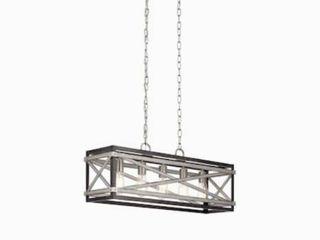 Kichler Stetton Anvil Iron and Distressed Antique Grey Farmhouse linear Pendant light