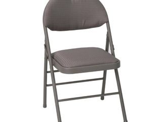 Cosco Taupe Metal Frame Padded Seat Folding Chair  Set of 2  Brown