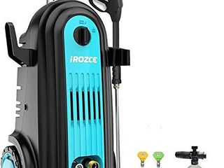 iRozce Pressure Washer  Brushless Induction Motor 3700PSI 2 8GPM Max  Electric Power Washer with Foam Cannon  Metal Adapter  Connector Nozzles for Driveway  Car Washing