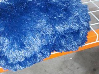 Uhamho Solid Fluffy 1PC Faux Fur Plush Duvet Cover luxury Shaggy Velvet Bedspread Zipper Closure  Navy  King