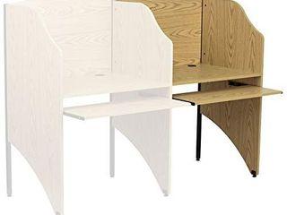 Flash Furniture Add On Study Carrel in Oak Finish