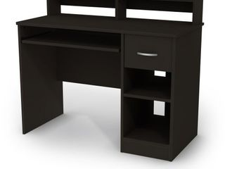 South Shore Axess Desk with Keyboard Tray  Black