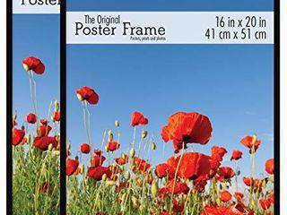 MCS 16x20 Inch Original Poster Frame 2 Pack  Black  63909  2 Count