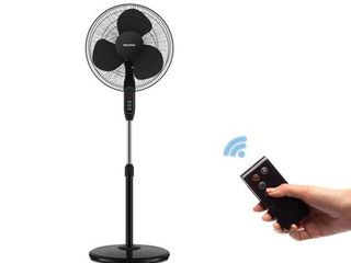 Pelonis 16  Oscillating Stand Fan with Remote  FS40 8JRB  Black