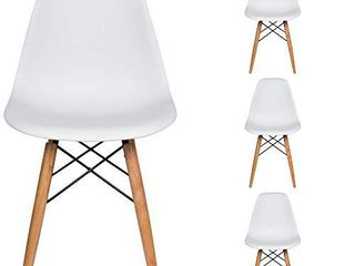 liani   Mid Century Modern Chair  White    Designer MONOFRAME Modern Dining Chairs Set of 4 for living Room Accent Chair  Side Chair  Dining Table and Kitchen Chairs   Midcentury Modern Furniture