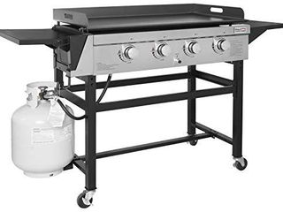 Royal Gourmet GB4001 4 Burner Propane Gas Grill Griddle Outdoor Flat Top  36 inch  Black