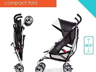 3Dlite Black Convenience Stroller  with Silver Frame