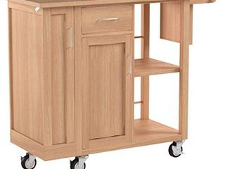 Winsome 89443 Douglas Cart Kitchen  Natural 42 52x18 98x35 35