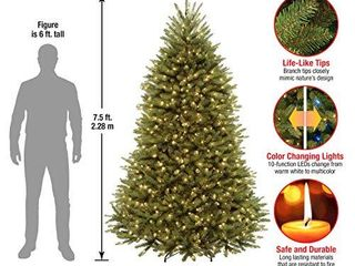 National Tree Dunhill Fir Tree With Dual Color lED lights   7 5 Feet