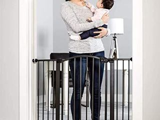 Regalo Easy Step Arched DAccor Walk Thru Baby Gate  Includes 4 Inch Extension Kit  4 Pack Pressure Mount Kit and 4 Pack Wall Mount Kit  Bronze