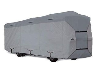 S2 Expedition Class A RV Covers by Eevelle   Marine Grade Waterproof Fabric Roof   Tan and Gray