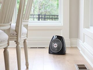 Vornado MVH Vortex Heater with 3 Heat Settings  Adjustable Thermostat  Tip Over Protection  Auto Safety Shut Off System  Black