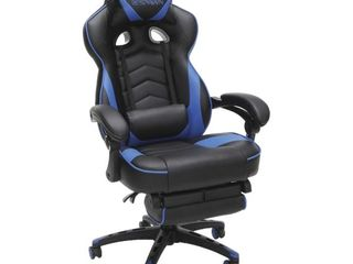 RESPAWN 110 Racing Style Gaming Chair  Reclining Ergonomic leather Chair with Footrest  in Blue  RSP 110 BlU