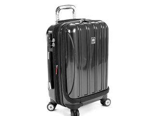 DElSEY Paris Aero 19  Carry On Spinner Suitcase   Platinum  White