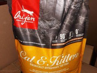 Orijen Cat   Kitten Biologically Appropriate Grain Free Chicken  Turkey   Fish Dry Cat Food  12 lb