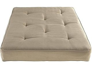 DHP 8 Inch Independently Encased Coil Futon Mattress  Full Size  Tan  Frame Not Included