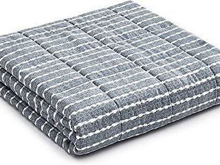 YnM Weighted Blanket a Heavy 100  Oeko Tex Certified Cotton Material with Premium Glass Beads  Sprout Green  60 x80  25lbs  Suit for One Person 240lb  Use on Queen King Bed