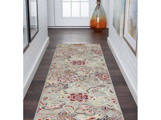 Alise Rugs Decora Contemporary Floral Rug Runner