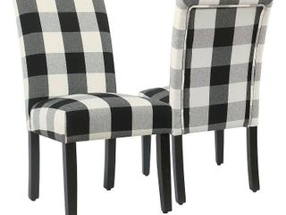 HomePop Plaid Parsons Dining Chairs   Set of 2