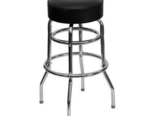 Offex Double Ring Chrome Bar Stool legs