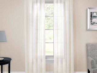 Pairs to go Victoria Voile Rod Pocked Window Curtain Panels   Set of 2