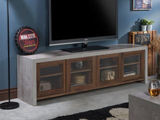 Furniture of America Haylin Industrial Cement like Multi storage TV Stand Retail 398 00