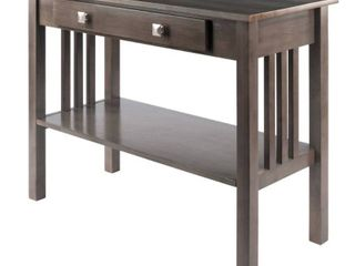Wood   Stafford Console Hall Table  Oyster Gray   Retail 186 49