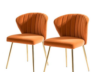 Milia Dining Chair Set of Two   Orange