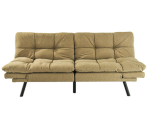 Black light Brown   Modern One Full Biscuit Back Convertible Sofa   Retail 424 99